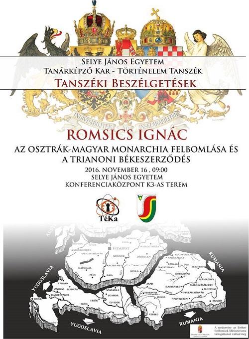 Romsics Ignác Széchenyi-díjas történész előadása a trianoni békeszerződésről